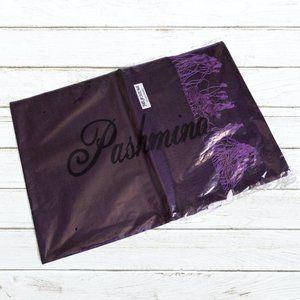 Pashmina Purple Wrap with Fringe (New)
